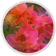Rose 219 Round Beach Towel by Pamela Cooper