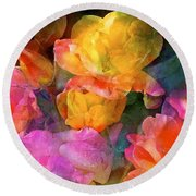 Rose 224 Round Beach Towel by Pamela Cooper