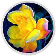 Round Beach Towel featuring the photograph Rose 4 by Pamela Cooper