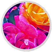 Rose 49 Round Beach Towel by Pamela Cooper