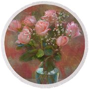 Rose Bouquet Round Beach Towel by Sandi OReilly