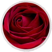 Eye Of The Rose Round Beach Towel