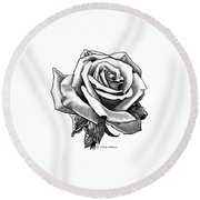 Rose Created For Canvas Comforts Round Beach Towel