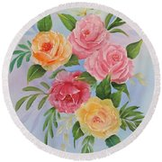 Rose Gathering Round Beach Towel by Jimmie Bartlett