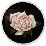 Rose Glow Round Beach Towel