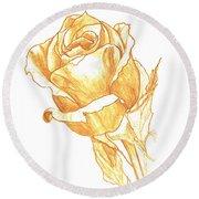 Rose Gold Round Beach Towel