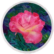 Rose In The Matter Of Your Hand V7 Round Beach Towel
