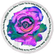Rose Mother Nature Round Beach Towel
