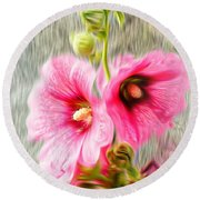 Rose Of The North Abstract. Round Beach Towel