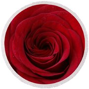 Round Beach Towel featuring the photograph Rose Red by Shawn Marlow