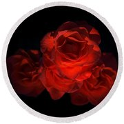 Round Beach Towel featuring the photograph Rose Three by David Andersen