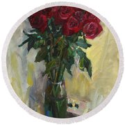 Rose To The Birthday Round Beach Towel
