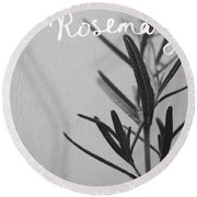 Rosemary Round Beach Towel by Linda Woods