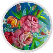 Roses Roses Jenny Lee Discount Round Beach Towel