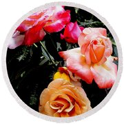 Roses Roses Roses Round Beach Towel by James C Thomas