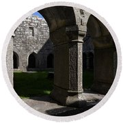 Ross Errilly Franciscan Friary 1351 Round Beach Towel