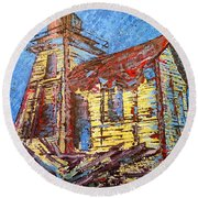 Ross Island Lighthouse Round Beach Towel