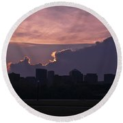 Rosslyn Skyline Round Beach Towel