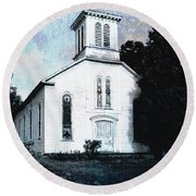 Rossville Church And Cemetery Round Beach Towel