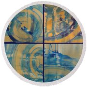 Round Beach Towel featuring the photograph Rotation Part One by Sir Josef - Social Critic - ART