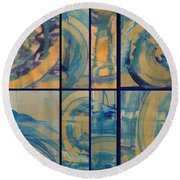 Round Beach Towel featuring the photograph Rotation Part Two by Sir Josef - Social Critic - ART