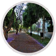 Rothschild Boulevard Round Beach Towel