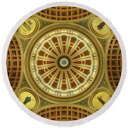 Round Beach Towel featuring the photograph Rotunda by Joseph Skompski