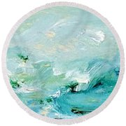 Rough Waters Round Beach Towel
