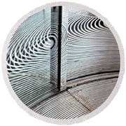 Round Beach Towel featuring the photograph Round And Round by Ethna Gillespie