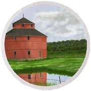 Round Barn Round Beach Towel