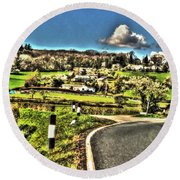 Round Beach Towel featuring the photograph Round The Bend by Doc Braham