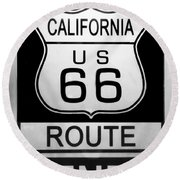 Route 66 End Round Beach Towel