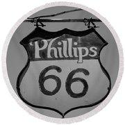 Route 66 - Phillips 66 Petroleum Round Beach Towel