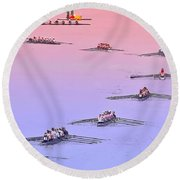 Rowers Arc Round Beach Towel by Gary Holmes