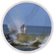 Rowing Round Beach Towel