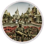 Roy And Minnie Mouse Antique Style Walt Disney World Round Beach Towel