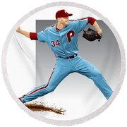 Roy Halladay Round Beach Towel