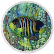Royal Angelfish Round Beach Towel