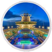 Royal Carribean Cruise Ship  Round Beach Towel