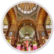 Royal Exhibition Building II Round Beach Towel