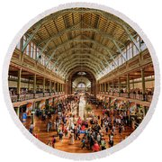 Royal Exhibition Building IIi Round Beach Towel