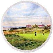 Royal Liverpool Golf Course Hoylake Round Beach Towel by Bill Holkham