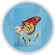 Round Beach Towel featuring the photograph Mississippi Royal Monarch  by Michael Hoard