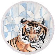 Royal Mysticism  Round Beach Towel