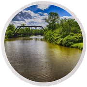 Round Beach Towel featuring the photograph Royal River by Mark Myhaver