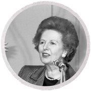 Rt.hon. Margaret Thatcher Round Beach Towel