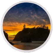 Ruby Beach Olympic National Park Round Beach Towel