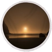 Ruby Beach Sunset Round Beach Towel