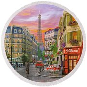 Rue Paris Round Beach Towel