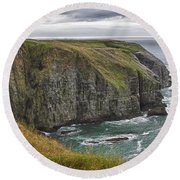 Rugged Landscape Round Beach Towel by Eunice Gibb